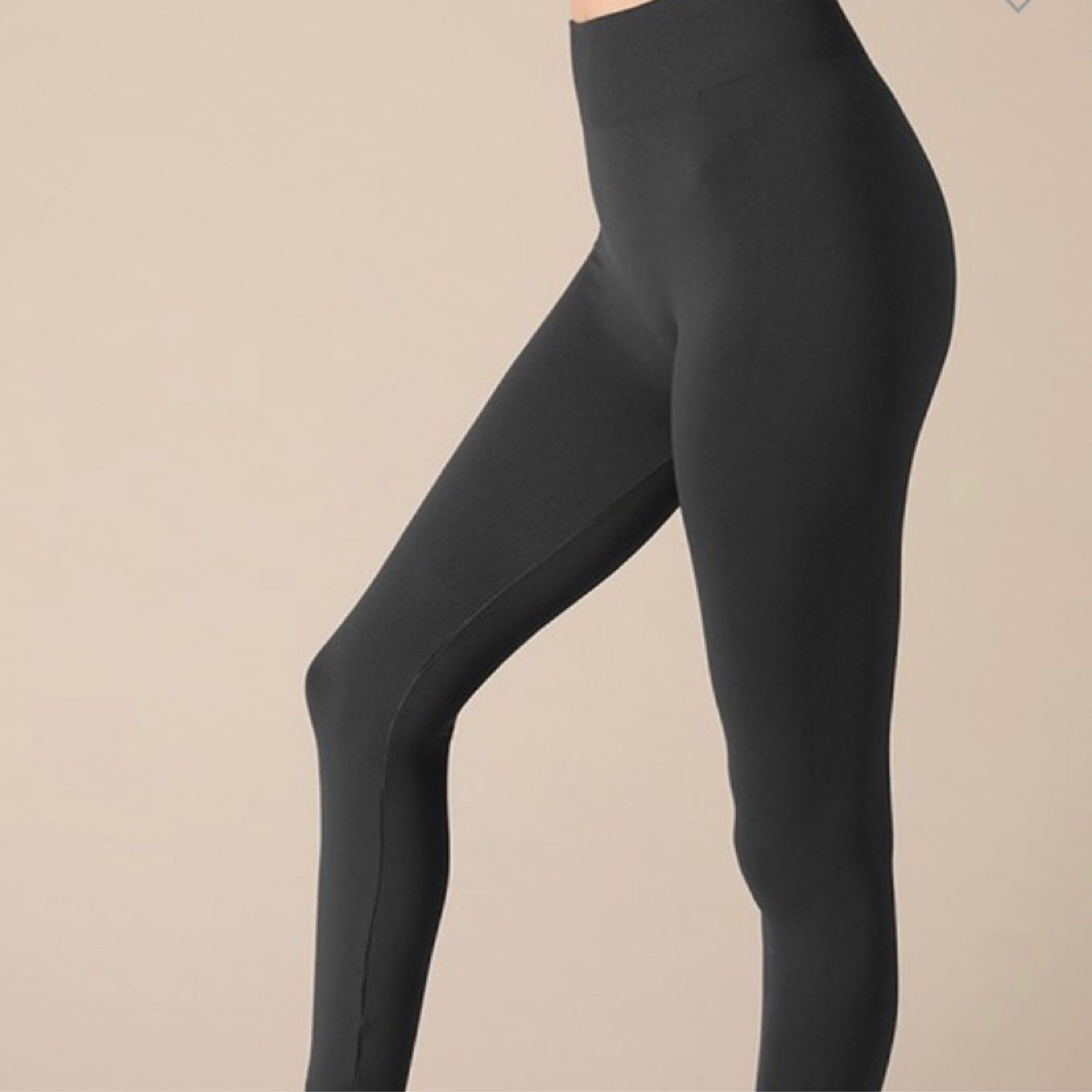 Charcoal Solid High Waisted Leggings - One Size