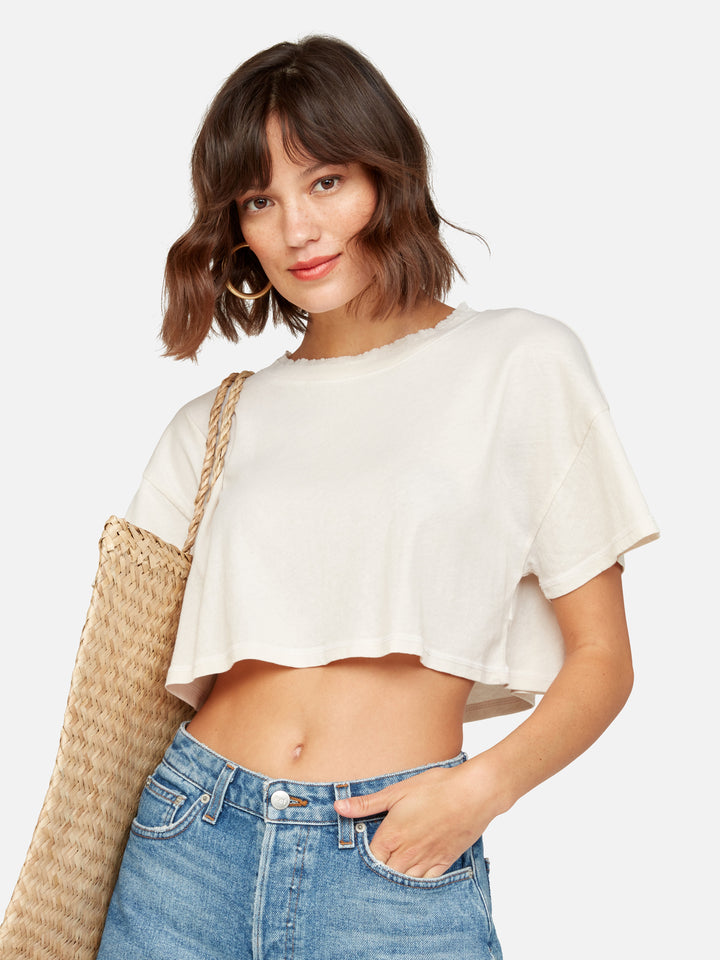Organic Cotton Vintage Crop Tee