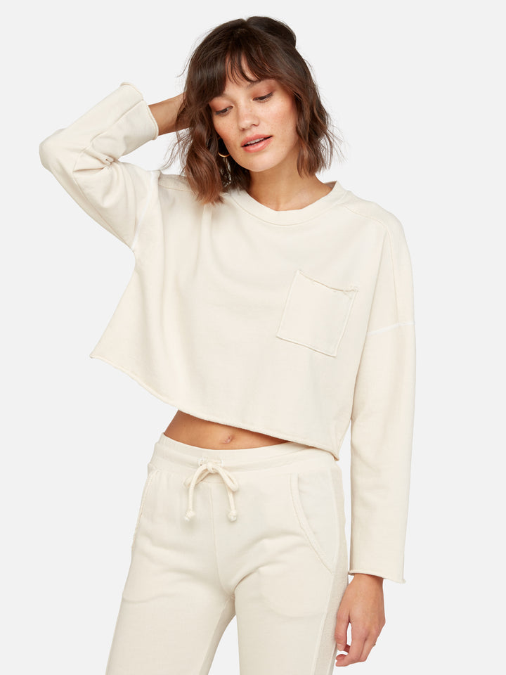 Organic Terry Crop Pocket Sweatshirt