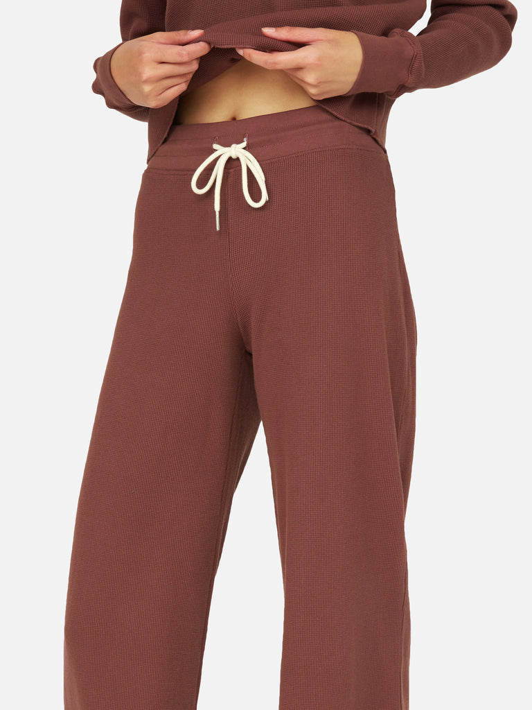 Organic Thermal Wide Leg Pant