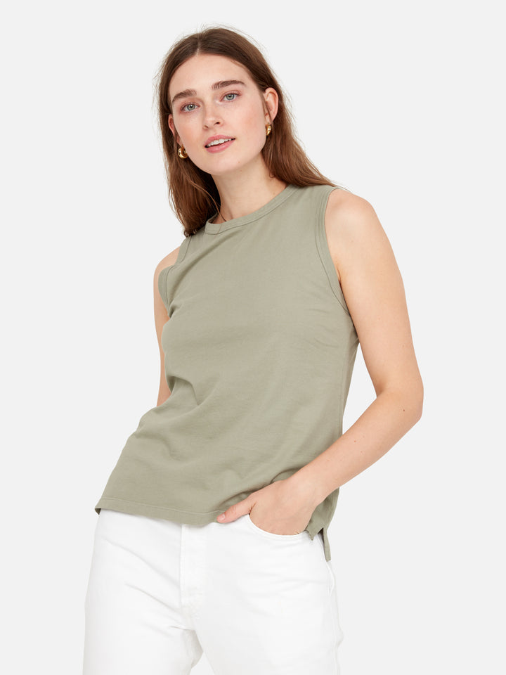 Organic Cotton Crew Neck Tank