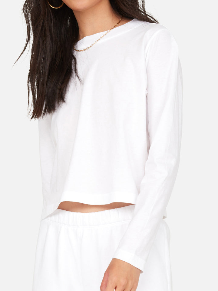 Organic Cotton Long Sleeve Crop Tee