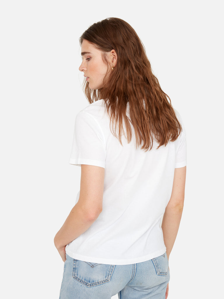 Organic Cotton V Neck Tee