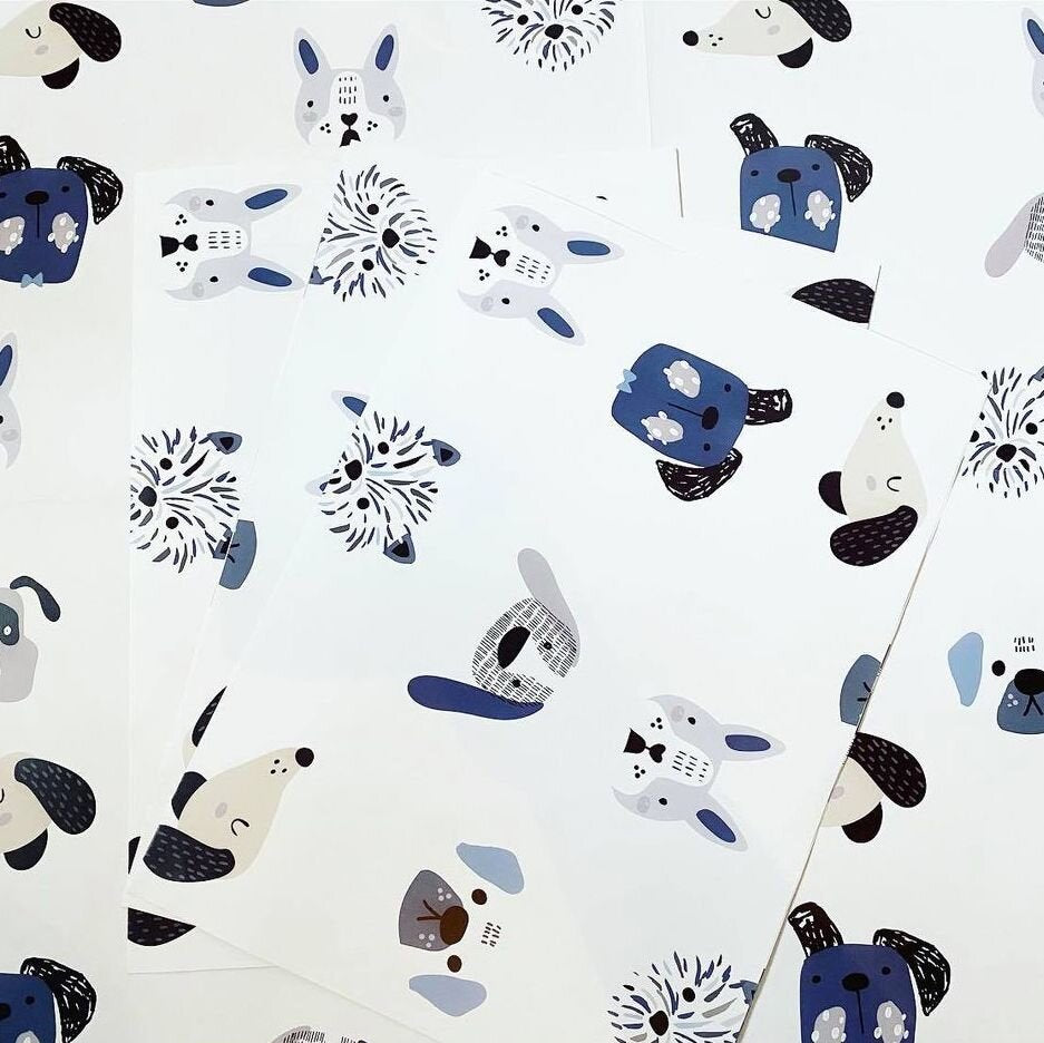 Dog Wrapping Paper Sheet