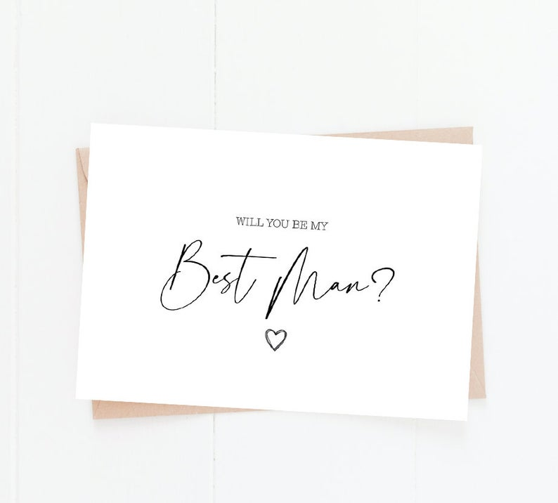 Best Man Proposal Card | Size A6 | Will You Be My Best Man
