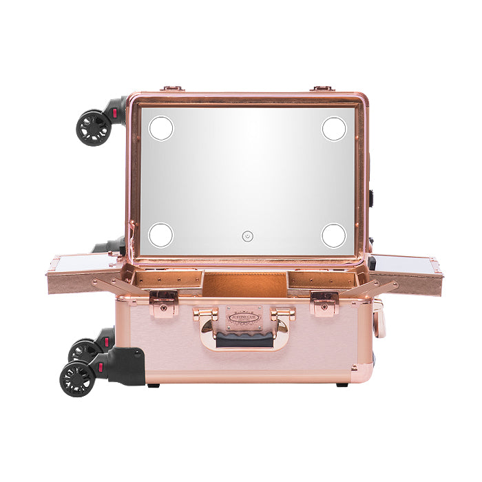 Justine Hollywood Vanity Mirror Makeup Case With LED Medium