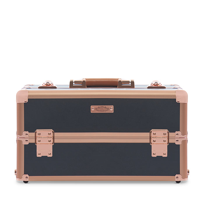 Justine Case Hair & Beauty Trolley Black & Rose Gold 4 Tiers