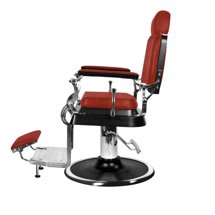 Barber Culture Achilles Barber Chair Red - salonfurnitureco