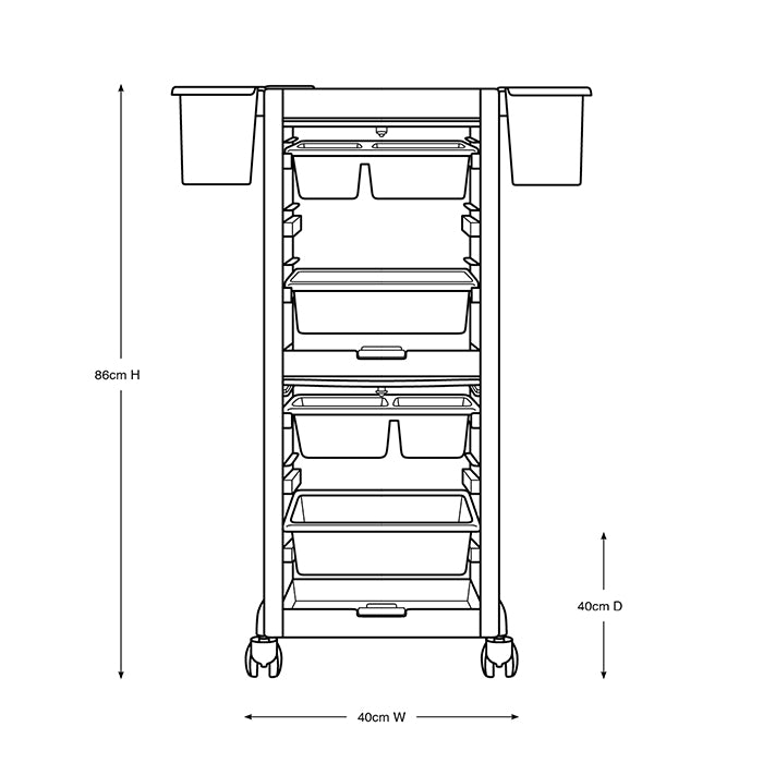 Richard Lockable Salon Trolley