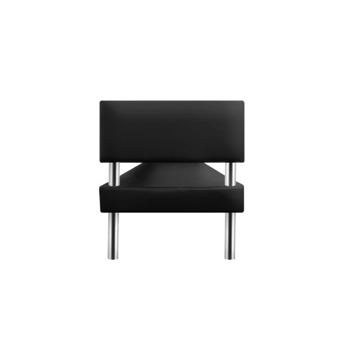 Glammar Reese Waiting Lounge Black - salonfurnitureco