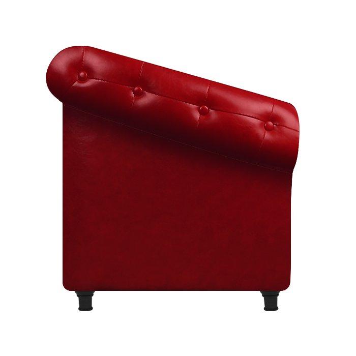 Glammar Florence Lounge Chair Red - salonfurnitureco