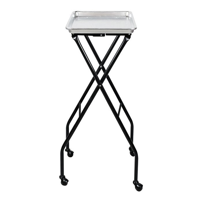 Glammar Folding Service Tray Silver - salonfurnitureco