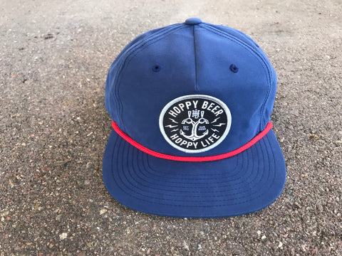 HBHL Anchor Navy Snapback Beer Hat