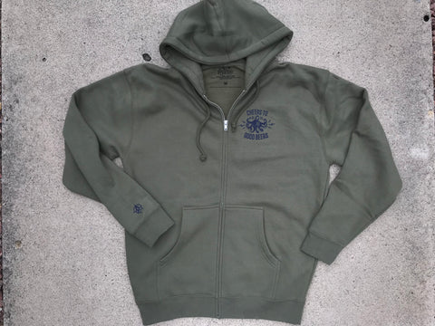 HBHL Octopus Beer Zip Up Hoodie