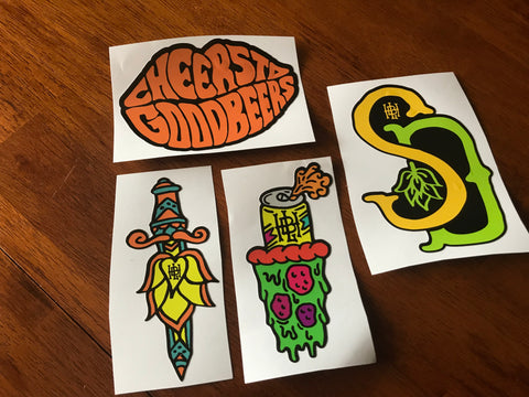HBHL 4 Beer Sticker Pack