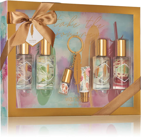 Load image into Gallery viewer, 5pc Eau De Parfum Gift Set with Keychain