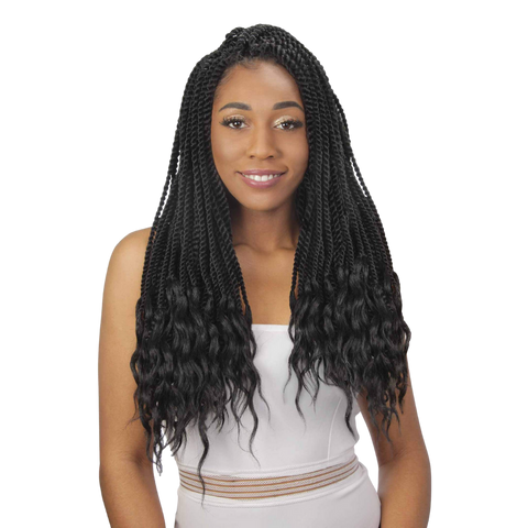 3X Senegal Twist Goddess Loc 20""
