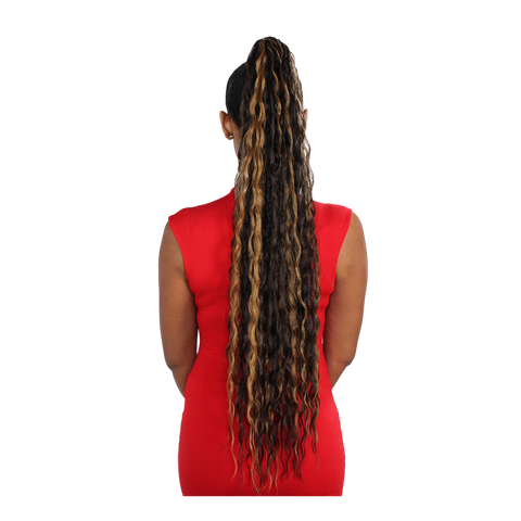 Image of Eve Wrap Ponytail- Malaysian Wave