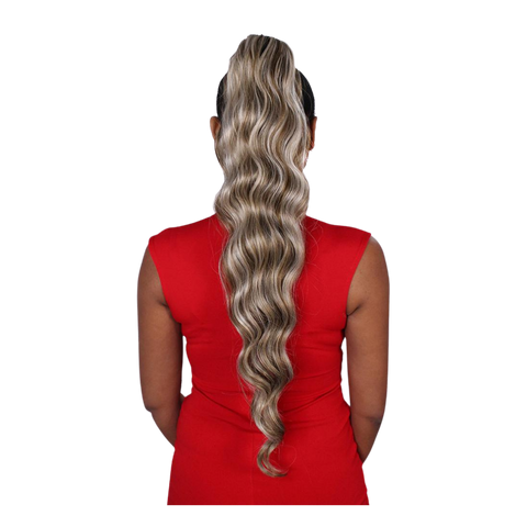 Image of Eve Wrap Ponytail- Ocean Wave