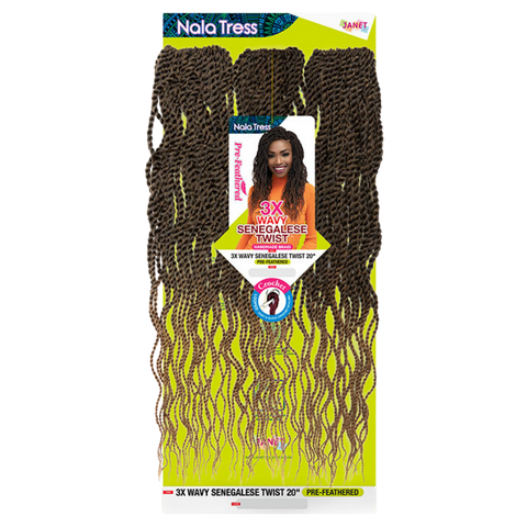 Image of 3X WAVY SENEGALESE TWIST PRE-FEATHERED 20″