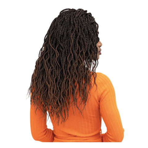 3X WAVY SENEGALESE TWIST PRE-FEATHERED 20″