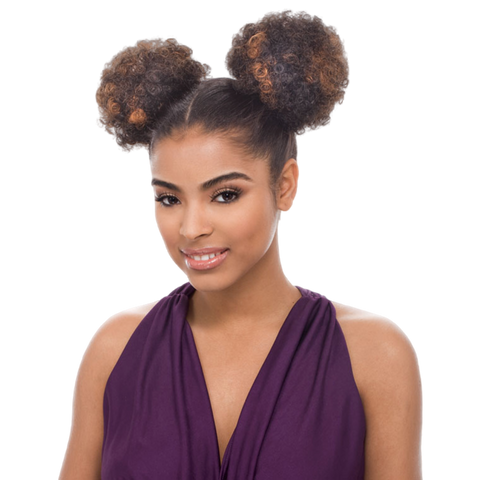 Image of Janet Noir Drawstring Ponytail - Afro Puff 2 PCS