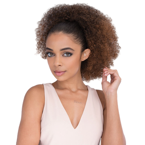 Janet Noir Drawstring Ponytail - Afro Coily