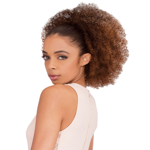 Image of Janet Noir Drawstring Ponytail - Afro Coily