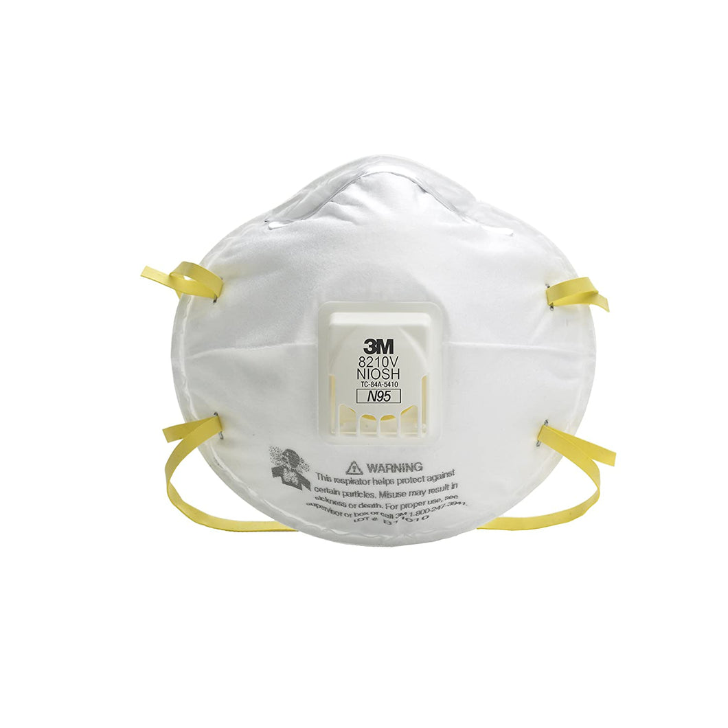3M Particulate Respirator 8210, N95 160 EA/Case (Pack of 20)