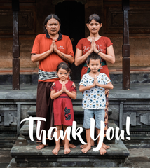 Thank you from Bali