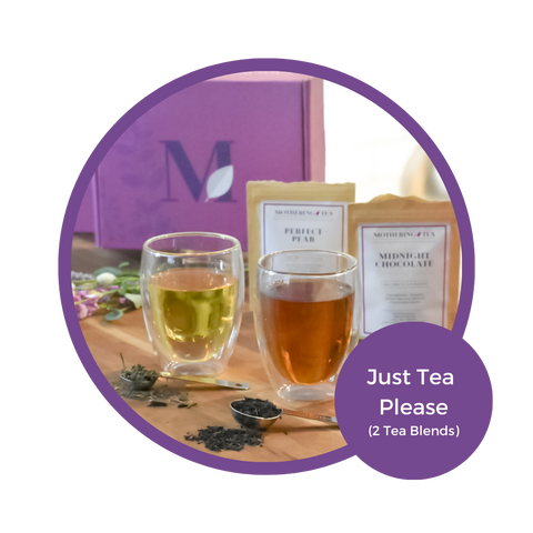 Mothering Tea's Signature Gift Box Option #1:  Just Tea Please with 2 blends (Free US standard shipping)