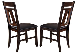 Liberty Furniture Lawson Splat Back Side Chair (Set of 2) in Light/Dark Expresso 116-C2501S image