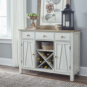 Liberty Furniture Lindsey Farm Server in Weathered White & Sandstone image