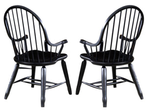 Liberty Furniture Treasures Bow Back Arm Chair in Black 17-C4051 (Set of 2) image