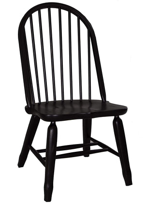 Liberty Furniture Treasures Bow Back Side Chair in Black 17-C4050 (Set of 2) image