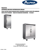 Alpha AB27R 1-Door Reach-in Refrigerator User and Operations Manual