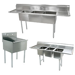 Commercial Dish Sinks and Hand Sinks