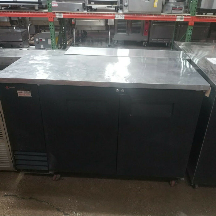 "True TBB-2 58 7/8"" Commercial Bar Refrigerator - 2 Swinging Solid Doors - Used-cityfoodequipment.com"