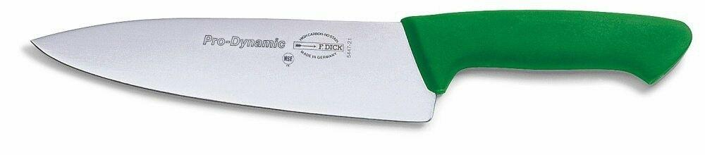 "F. Dick (8544721-14) 8"" Chef's Knife, Green Handle - Pro Dynamic-cityfoodequipment.com"
