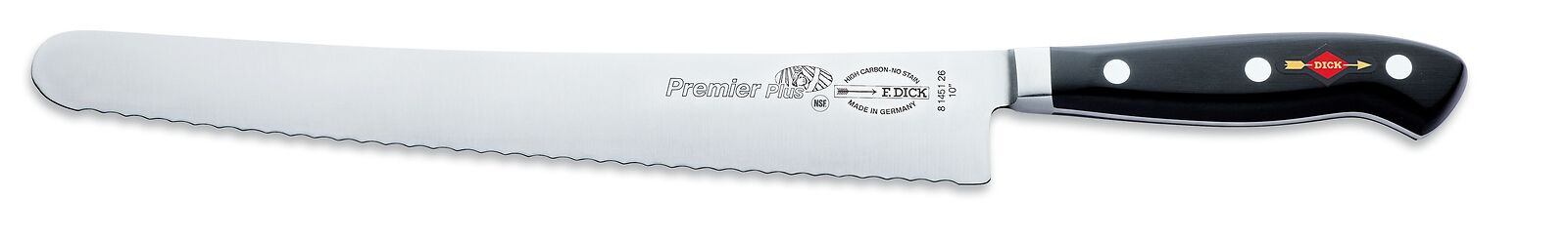"F. Dick (8145126) 10"" Utility Knife, Serrated Edge, Forged-cityfoodequipment.com"