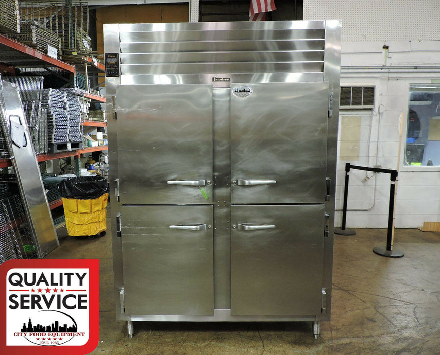 Traulsen AHT232WUT Self Contained 2-Section Half Length Door Refrigerator - Used-cityfoodequipment.com