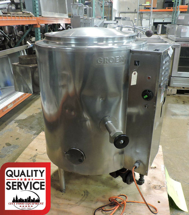 Groen AH/1E-20 Commercial 20 Gal Stationary, 2/3 Steam-Jacketed Gas Kettle - Used-cityfoodequipment.com