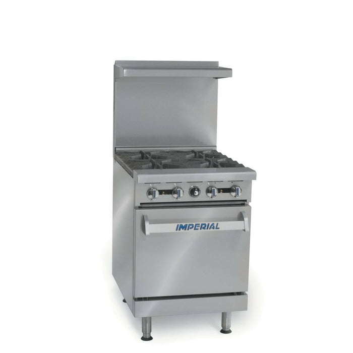 "Imperial IR-4 24"" Commercial Gas Range 4 Open Burner w/ Standard Oven-cityfoodequipment.com"