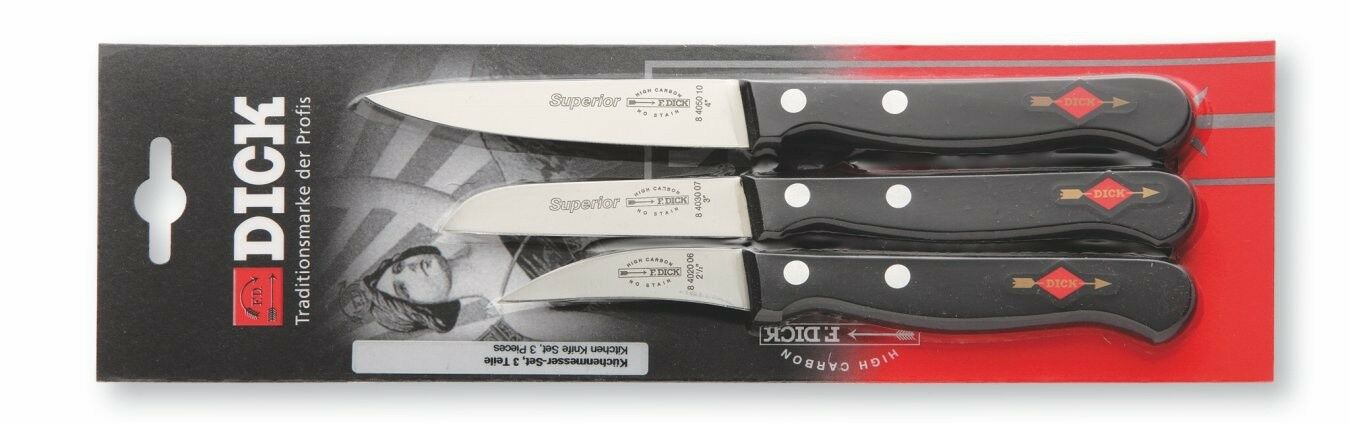 F. Dick (8470004) 3-Piece Knife Set, Superior-cityfoodequipment.com