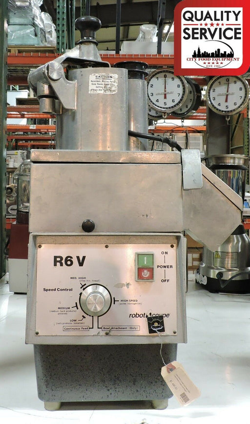 Robot Coupe R6V Commercial Continuous Feed Food Processor-cityfoodequipment.com