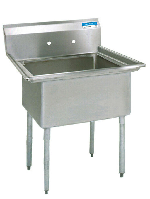 BK Resources BKS-1-18-12 Commercial Stainless Steel 1-Compartment Sink No DB-cityfoodequipment.com
