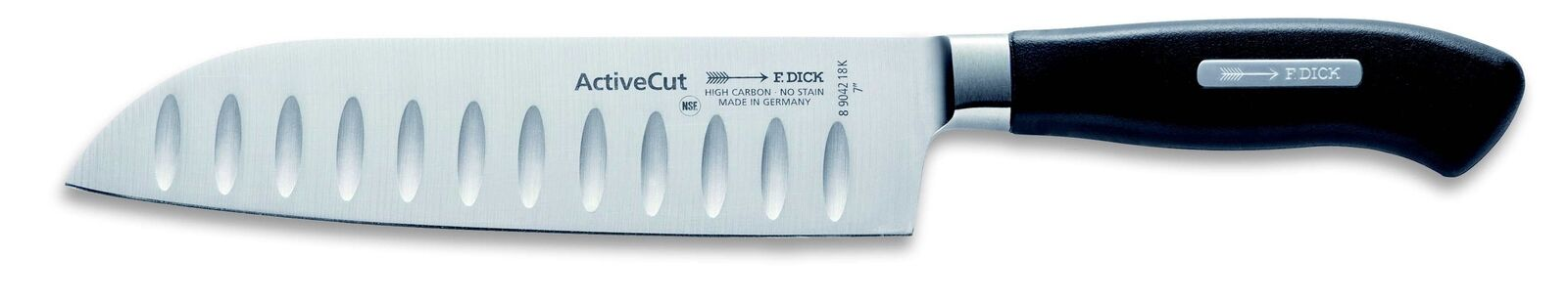 "F. Dick (8904218K) 7"" Santoku, Forged, Active Cut-cityfoodequipment.com"