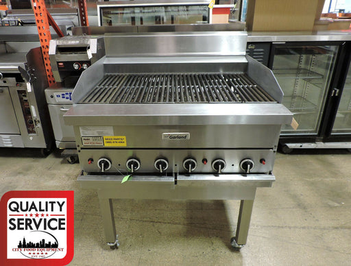 Garland G36-BRL Commercial Ceramic Briquette Charbroiler-cityfoodequipment.com