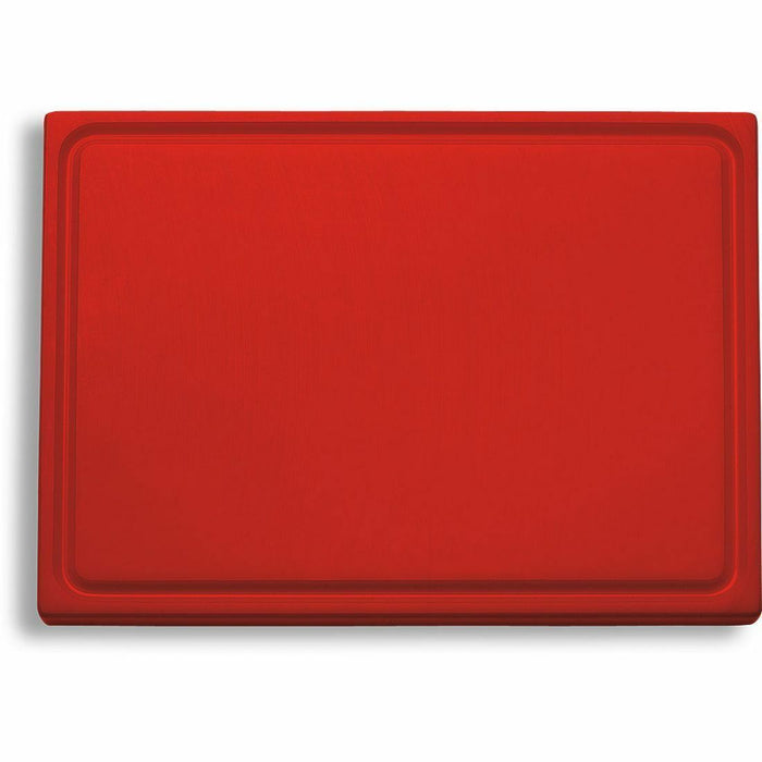 "F. Dick (9126500-03) Cutting Board, Red (Meat) 12 3/4"" x 10"" x 3/4""-cityfoodequipment.com"