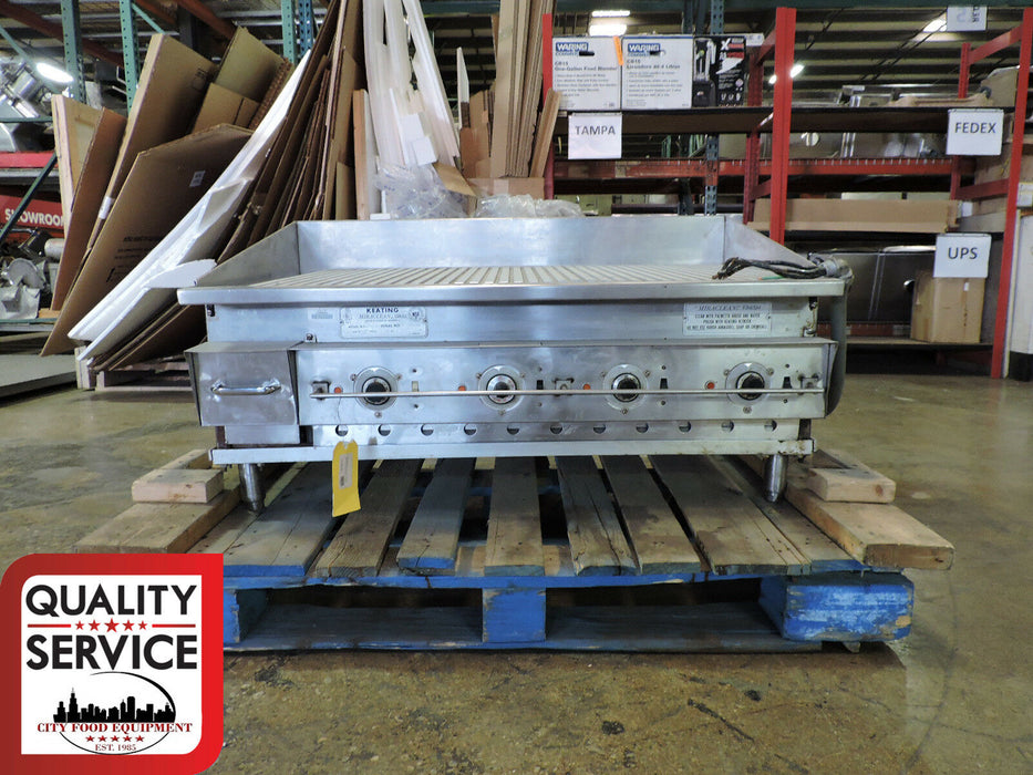 Keating 42FLDE Miraclean Commercial Electric Ribbed Griddle-cityfoodequipment.com